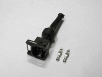 2 pin Fuel injector plug with rubber boot (Bosch EV1 style)
